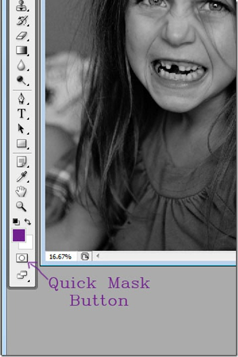 Quick Mask button