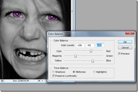 Eyes purple