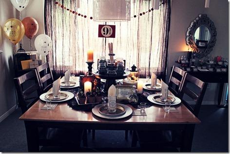 mise en sc ne d 39 un anniversaire th me harry potter. Black Bedroom Furniture Sets. Home Design Ideas